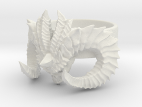 Diablo Ring Size 3 in White Natural Versatile Plastic