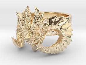 Diablo Ring Size 3 in 14K Yellow Gold