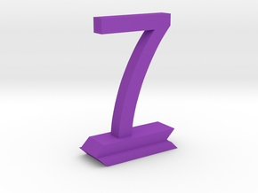 Table Number 7 in Purple Strong & Flexible Polished