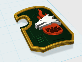 10x Ember Flame - Marine Boarding Shields in Smooth Fine Detail Plastic
