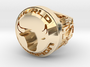 CHAMPION  Ring  Bulls.23 in 14K Gold