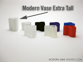 Modern Vase Extra Tall 1:12 scale in White Strong & Flexible Polished