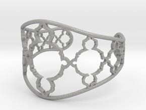 Mandelbrot Cuff in Aluminum