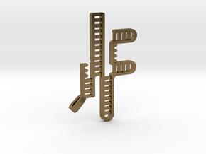 CRISPR RNA Pendant with Bail in Natural Bronze