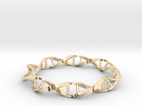 DNA Ring 23mm in 14k Gold Plated Brass