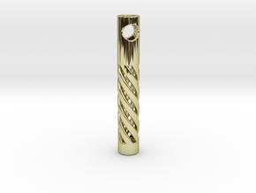 Tritium Spiral in 18k Gold Plated Brass