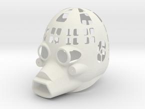 Dessert Dweller Mask Full Vented in White Natural Versatile Plastic