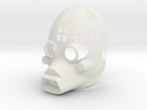 Dessert Dweller Mask Half Vented  in White Natural Versatile Plastic