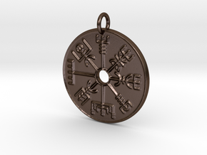 Vegvisir Pendant in Polished Bronze Steel