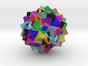 13 Cube Compound, colored in Full Color Sandstone