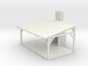 Picnic Shelter - HO 87:1 Scale in White Strong & Flexible
