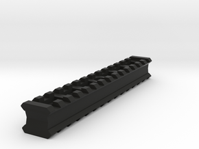 Back-to-Back 14-Slots Picatinny Rails Adapter in Black Strong & Flexible