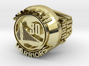 Curry 30  championship ring in 18k Gold Plated Brass