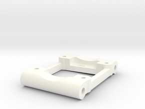 NIX41261 - Losi rear arm mount (0.5deg / 2deg)  in White Processed Versatile Plastic