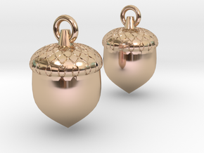 Acorn in 14k Rose Gold Plated Brass