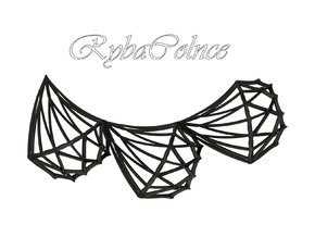 Necklace Diamonds in Black Natural Versatile Plastic