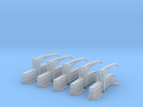 Hose Clamp style 2 Set of 5 in Smooth Fine Detail Plastic