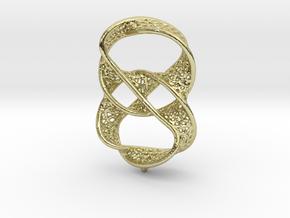 Infinity rings pendant (earrings) in 18k Gold Plated Brass