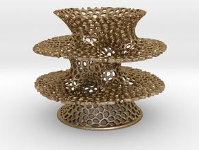 Voronoi Costa Vase in Polished Gold Steel