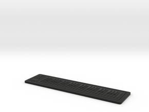 Digital Piano RSR49 1:12 Scale in Black Natural Versatile Plastic