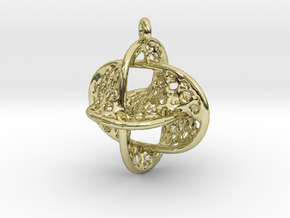 Voronoi Borromean Pendant (Earrings) in 18k Gold
