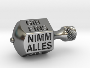 Nimm-Gib-Kreisel  in Polished Silver