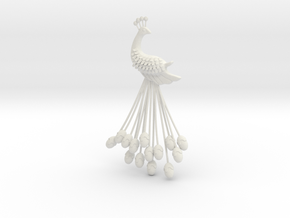 Far Cry Pagan Min peacock brooch in White Strong & Flexible
