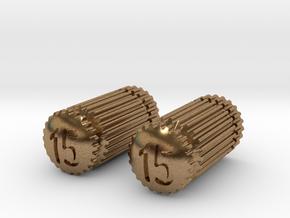 Pair of Dental Files in Natural Brass