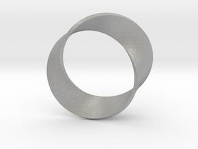 0156 Mobius strip (p=2, d=10cm) #004 in Aluminum