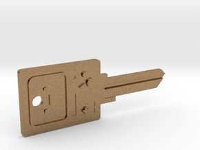 BMO House Key Blank - KW11/97 in Natural Brass