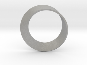 0154 Mobius strip (p=1, d=10cm) #002 in Aluminum