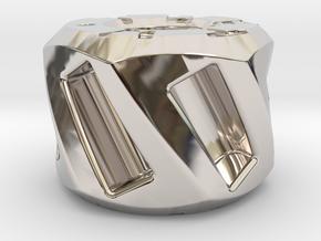 Twisted Hex Bead 2: Tritium in Platinum