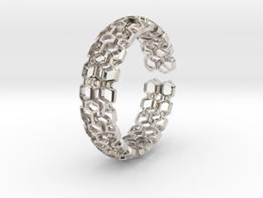 HQ Bracelet, Medium Size, d=65mm. Strong, Bold, Un in Platinum: Medium
