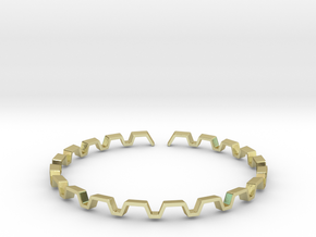 BETTER HALF Bracelet, Medium Size d=65mm in 18k Gold Plated Brass: Medium