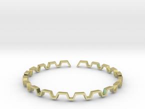 BETTER HALF Bracelet, Medium Size d=65mm in 18k Gold Plated: Medium