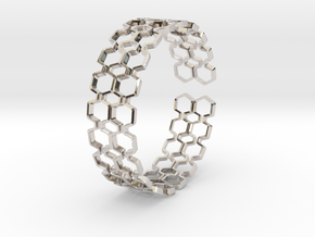 Honeyfull S Bracelet, Medium Size, 65mm in Platinum: Medium