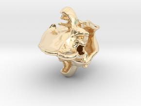 Hyena pendant in 14K Gold