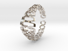 HD Bracelet, Medium Size, d=65. Strong, Bold, Uniq in Platinum: Medium