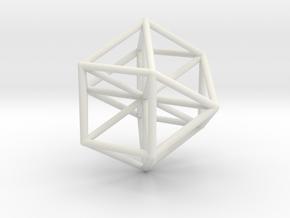 Vector Equilibrium 45mm size in White Natural Versatile Plastic
