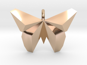 Origami Butterfly in 14k Rose Gold Plated Brass