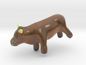 The Bull-mini in Glossy Full Color Sandstone