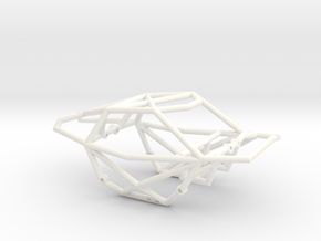 Frog Chassis in White Strong & Flexible Polished