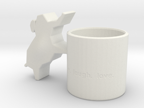 Elephant Candle Holder in White Natural Versatile Plastic