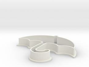 """5"""" Umbrella Cookie Cutter by OCDservicesph in White Natural Versatile Plastic"""