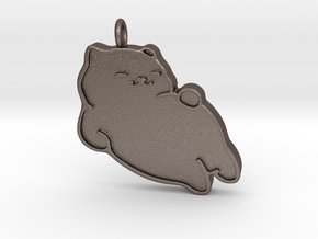 Tubbs pendent in Polished Bronzed Silver Steel