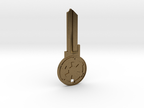 Empire House Key Blank - KW11/97 in Natural Bronze