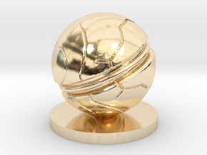 Slaughterball Large (15mm) in 14k Gold Plated Brass