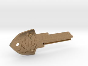 Zelda Shield House Key Blank - KW11/97 in Natural Brass
