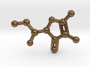 Vitamin C Molecule Pendant Keychain in Natural Bronze