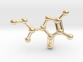 Vitamin C Molecule Pendant Keychain in 14k Gold Plated Brass